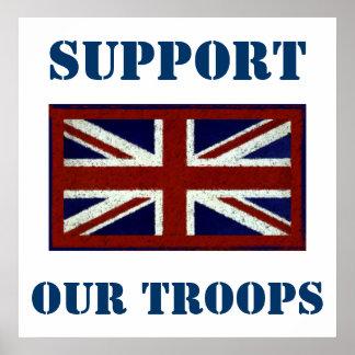 Apoye nuestro ~ Reino Unido de las tropas Posters