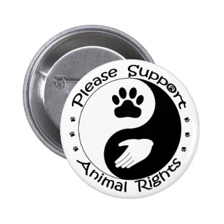 Apoye por favor el botón de los derechos de los an pin