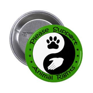 Apoye por favor el botón de los derechos de los an pin redondo de 2 pulgadas