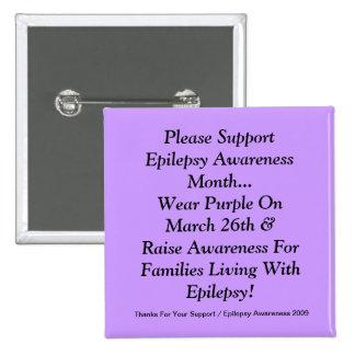 Apoye por favor el mes de la conciencia de la epil pin
