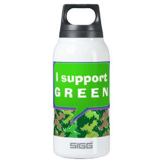 Apoye por favor el VERDE Botella Isotérmica De Agua