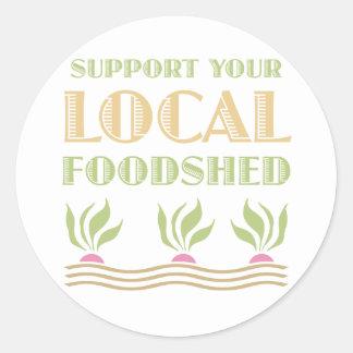 Apoye su Foodshed local Pegatinas Redondas