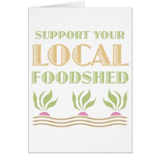 Apoye su Foodshed local Tarjetón