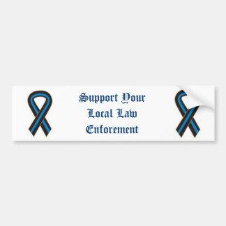 Apoye su ley local Enforement Pegatina Para Auto