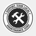 Apoye su mantenimiento local Guru Etiquetas Redondas