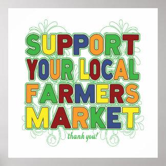 Apoye su mercado local de los granjeros póster