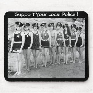 ¡Apoye su policía local! Alfombrillas De Raton
