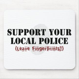 Apoye su policía local - deje las huellas alfombrilla de ratones