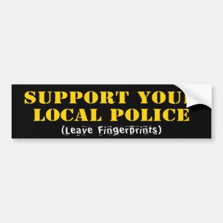 Apoye su policía local etiqueta de parachoque