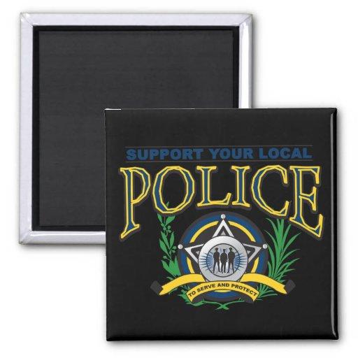 Apoye su policía local imanes de nevera