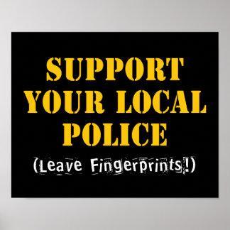 Apoye su policía local poster