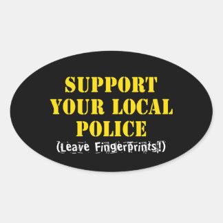 Apoye su policía local calcomanías de óvales personalizadas
