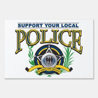 Apoye su policía local señal