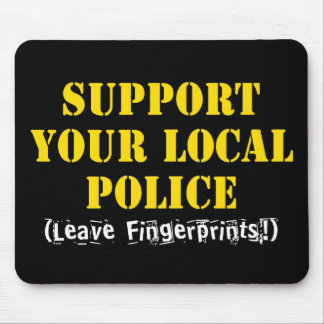 Apoye su policía local alfombrillas de ratón