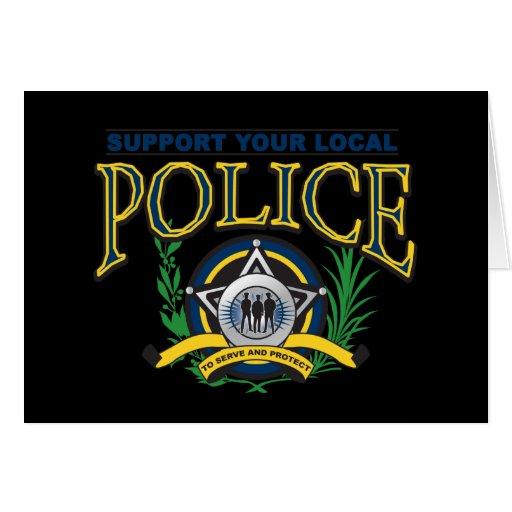 Apoye su policía local tarjeta de felicitación