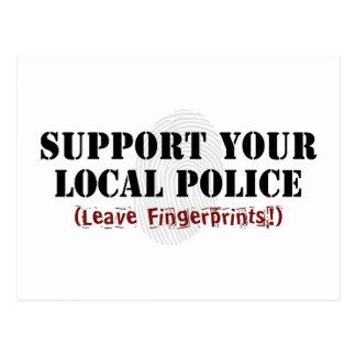 Apoye su postal de la policía local