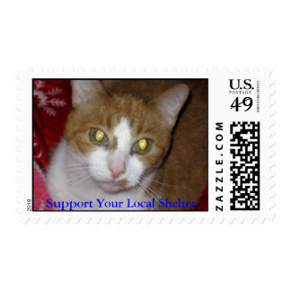 Apoye su refugio local timbre postal