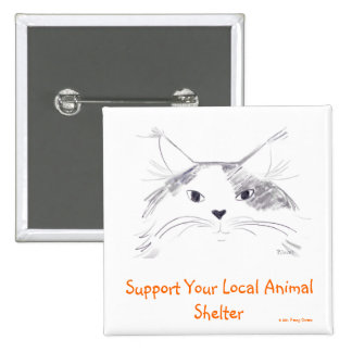 Apoye su refugio para animales local pins