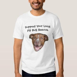 Apoye su rescate local del pitbull poleras