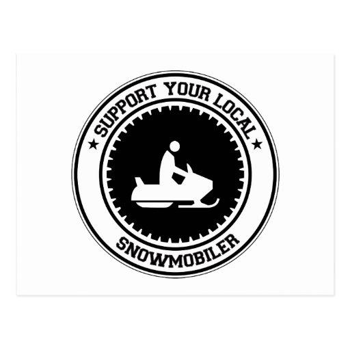 Apoye su Snowmobiler local Tarjetas Postales