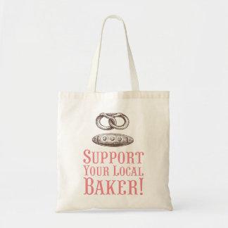 Apoye su tote local del panadero bolsa tela barata