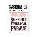 ¡Apoye sus granjas locales! Franqueo