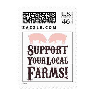 ¡Apoye sus granjas locales Franqueo