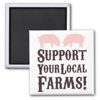 ¡Apoye sus granjas locales Imán