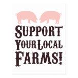 ¡Apoye sus granjas locales! Postal