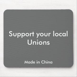 Apoye sus uniones locales, hechas en China Alfombrilla De Ratones