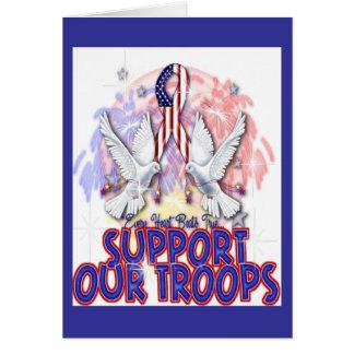 """""""Apoye tarjeta de felicitación de nuestras tropas"""""""