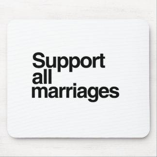 Apoye todas las bodas mouse pad