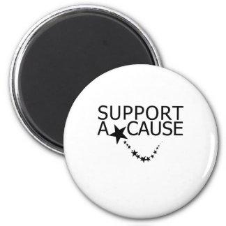 Apoye una causa imán redondo 5 cm