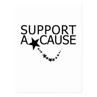 Apoye una causa postales