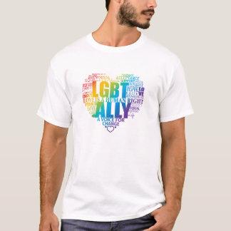 ¡Apoye y sea un aliado a la comunidad de LGBT! Playera