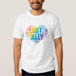 ¡Apoye y sea un aliado a la comunidad de LGBT! Polera
