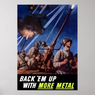 Apóyelos con más metal impresiones