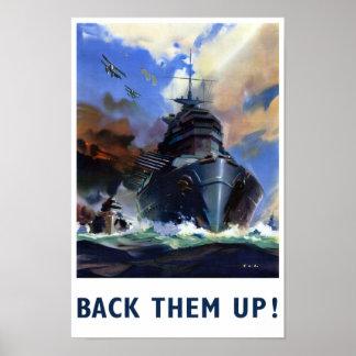Apóyelos encima del poster de los militares del