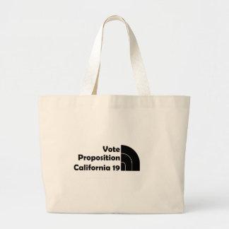 Apoyo 19 del voto bolsa tela grande