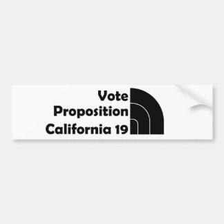 Apoyo 19 del voto pegatina para auto