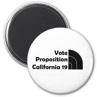 Apoyo 19 del voto imán redondo 5 cm
