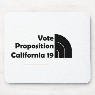 Apoyo 19 del voto alfombrilla de ratón