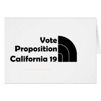 Apoyo 19 del voto tarjeta de felicitación
