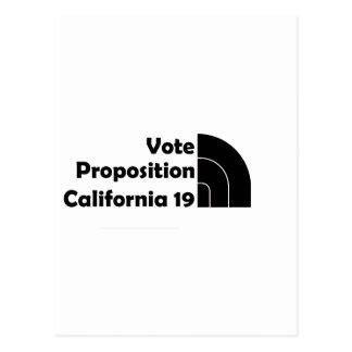 Apoyo 19 del voto tarjeta postal