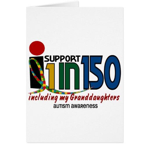 Apoyo 1 en 150 y mi AUTISMO de las nietas Tarjeta De Felicitación