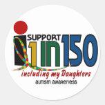Apoyo 1 en 150 y mi CONCIENCIA del AUTISMO de las  Etiquetas Redondas
