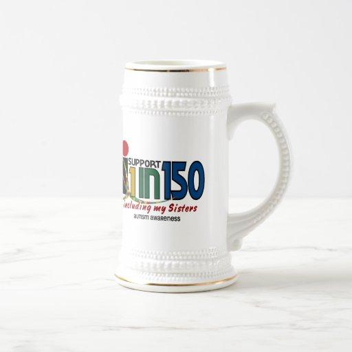 Apoyo 1 en 150 y mi CONCIENCIA del AUTISMO de las  Taza De Café