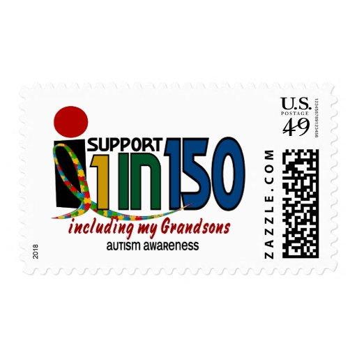 Apoyo 1 en 150 y mi CONCIENCIA del AUTISMO de los Sello Postal