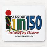Apoyo 1 en 150 y mi CONCIENCIA del AUTISMO de niño Alfombrilla De Raton