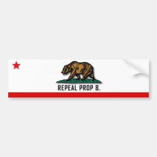 Apoyo 8 de la derogación - California Pegatina De Parachoque